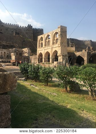 Golconda Fort in Hyderabad in Andhra Pradesh, India
