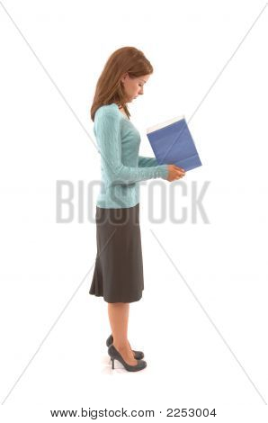 Business Woman Looking In Bag