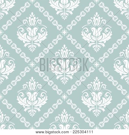 Orient vector classic pattern. Seamless abstract background with vintage elements. Orient blue and white background