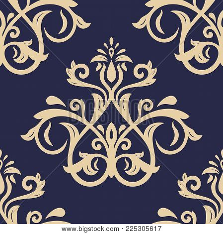 Classic seamless vector golden pattern. Damask orient ornament. Classic vintage background