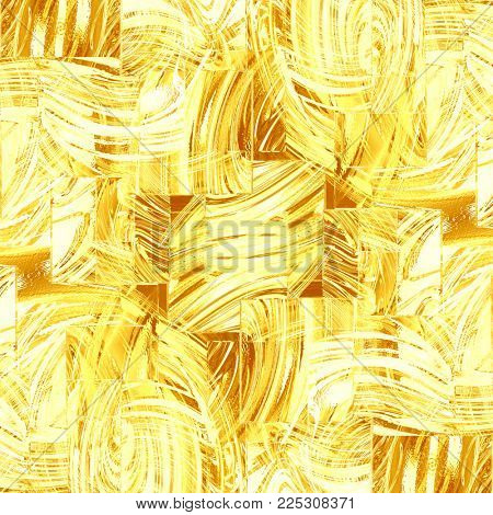 abstract background of gold glass squares