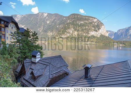 Hallstatt Village With Mountain Houses