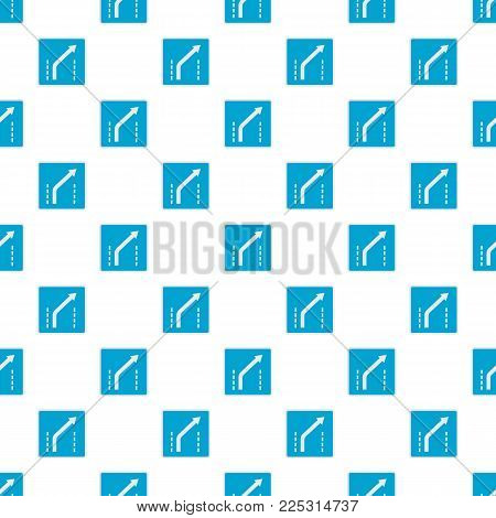 Traffic to the right pattern seamless in flat style for any design