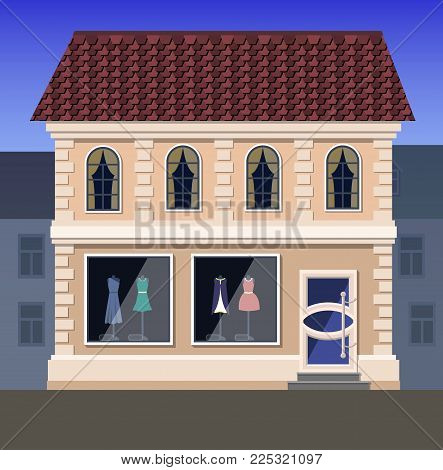 A store of elite clothing, located on the first floor of the house in a classic style. On the second floor of the house there is a luxury accommodation.