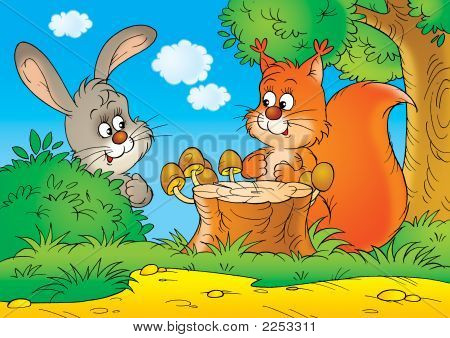 Squirrel And Rabbit