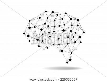 Creative concept of the human brain, vector illustration.