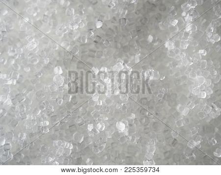 Common salt, salt crystals, high magnification macro.