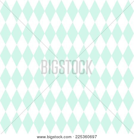 Tile vector pattern or mint green and white wallpaper background