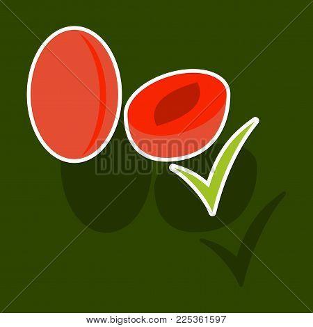 Broccoli. Vector illustration.Sticker isolated on background. Fresh Vegetable. Vegetarian food