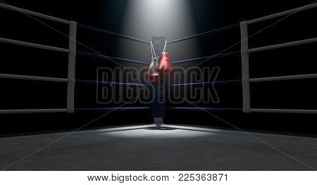 Boxing Corner And Boxing Gloves
