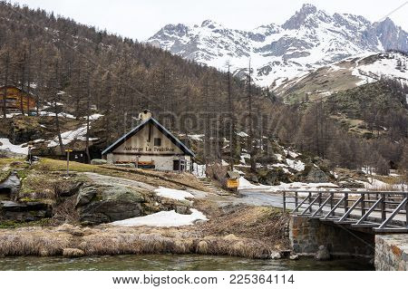 Ecrins National Park, France - April 22, 2016: Ecrins National Park Is One Of The Ten French Nationa