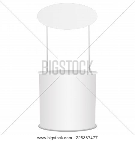 Mockup for design, branding, marketing projects. Point-of sale. Vector illustration