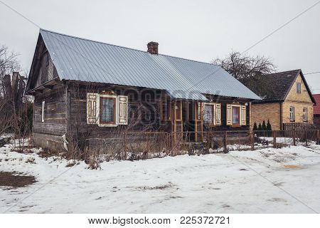 Old Folk House In Soce, Small Village In Podlasie Region Of Poland