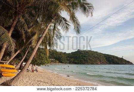 Coconut On The Beach At Tropical Sea ,thailand