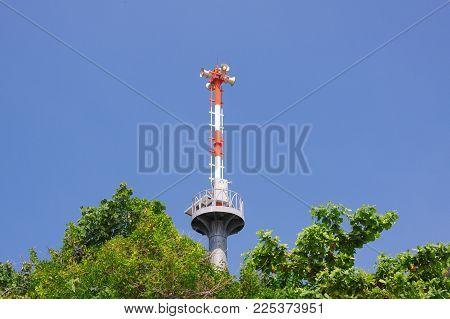 The Tsunami Warning Tower In Phuket ,thailand