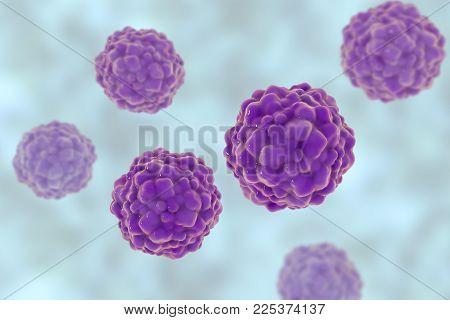 Ttv Hepatitis Virus, Transfusion Transmitted Or Torque Teno Virus, 3d Illustration