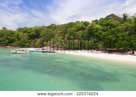 Emerald Sea White Sand Beach At Krabi , Thailand