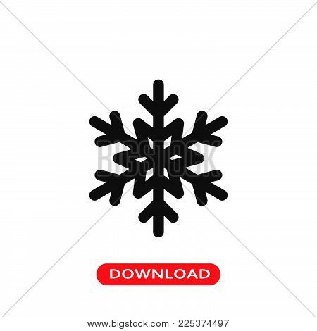 Snowflake icon vector in modern flat style for web, graphic and mobile design. Snowflake icon vector isolated on white background. Snowflake icon vector illustration, editable stroke and EPS10. Snowflake icon vector simple symbol for app, logo, UI.