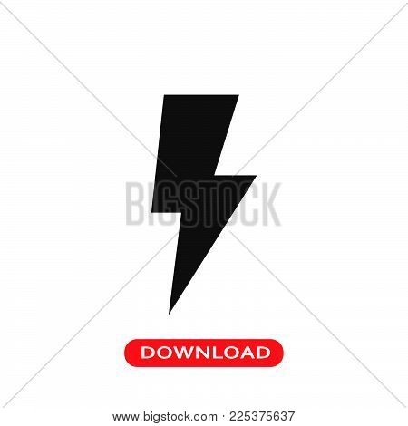 Lightning icon vector in modern flat style for web, graphic and mobile design. Lightning icon vector isolated on white background. Lightning icon vector illustration, editable stroke and EPS10. Lightning icon vector simple symbol for app, logo, UI.