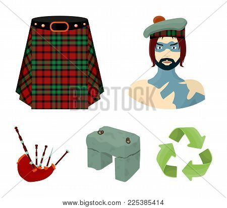 Highlander, Scottish Viking, Tartan, Kilt, Scottish Skirt, Scone Stone, National Musical Instrument