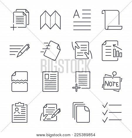 Simple Set of Document Icons. Contains such Icons as Batch Processing, Legal Documents, Clipboard, Download, Document Flow and more. Editable Stroke. EPS 10