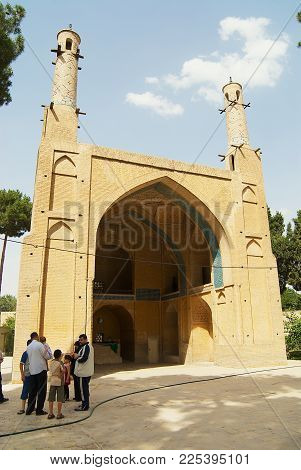 ISFAHAN, IRAN - JUNE 25,2007: Unidentified people visit Monar Jonban (Shaking Minarets) built 14-th century in Isfahan, Iran.