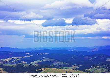 Views In The Mountains. Landscape In The Mountains.