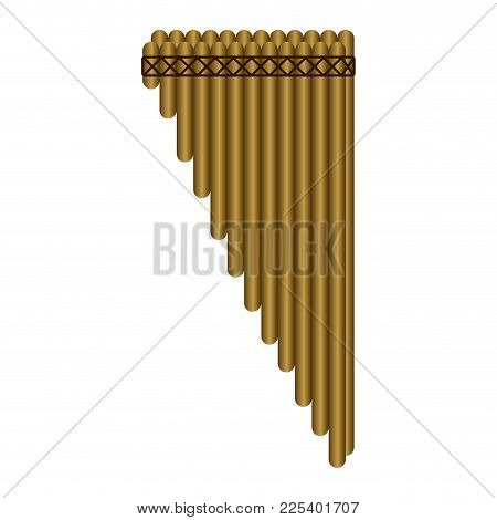 Isolated Panpipe. Musical Instrument. Vector Illustration Design