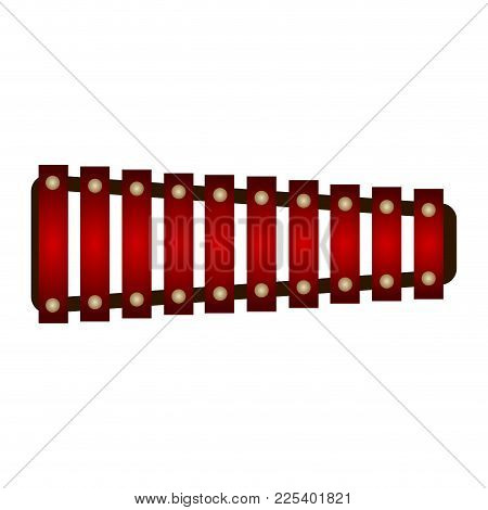 Isolated Xylophone. Musical Instrument. Vector Illustration Design