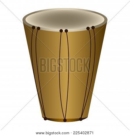 Isolated Bass Drum. Musical Instrument. Vector Illustration Design