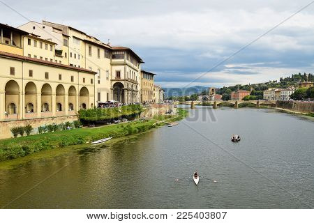 View From Ponte Vecchio In Florence. Italy.