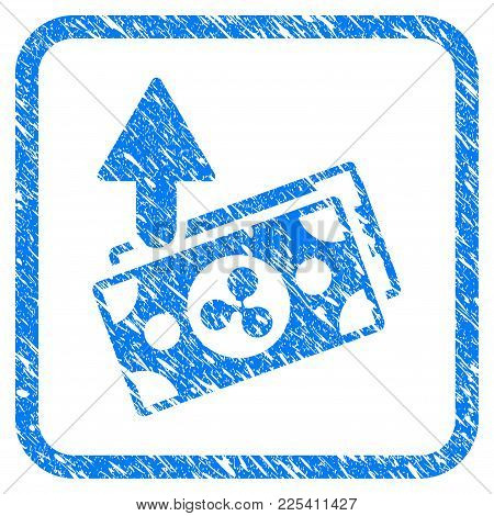Ripple Expences Banknotes Rubber Seal Stamp Watermark. Icon Vector Symbol With Grunge Design And Cor