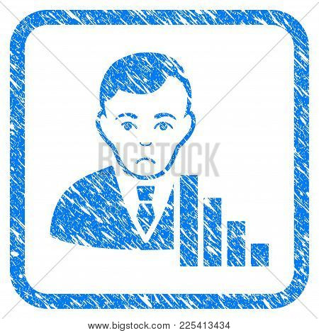 Stock Trader Rubber Seal Stamp Watermark. Icon Vector Symbol With Grunge Design And Dust Texture Ins