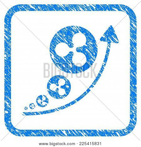 Ripple Inflation Trend Rubber Seal Stamp Imitation. Icon Vector Symbol With Grunge Design And Dust T