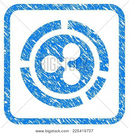 Ripple Diagram Rubber Seal Stamp Imitation. Icon Vector Symbol With Grunge Design And Unclean Textur