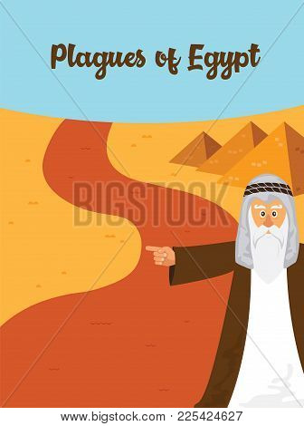 The Ten Plagues - An Illustration Of The First Of The Ten Plagues Of Egypt. The Story Of Jewish Holi