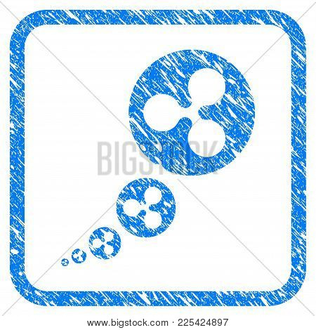 Ripple Inflation Rubber Seal Stamp Watermark. Icon Vector Symbol With Grunge Design And Unclean Text