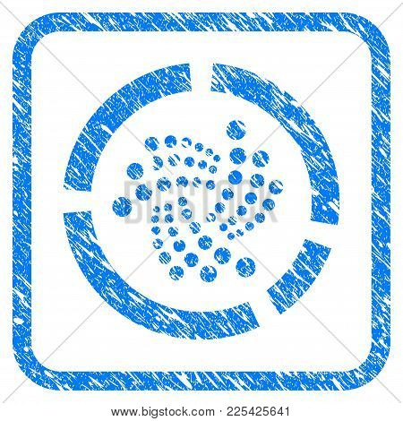 Iota Pie Diagram Rubber Seal Stamp Watermark. Icon Vector Symbol With Grunge Design And Corrosion Te