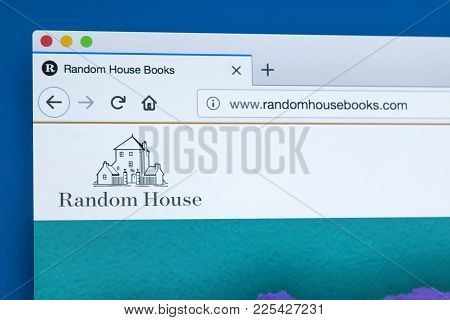 London, Uk - January 8th 2018: The Homepage Of The Official Website For Random House - The American