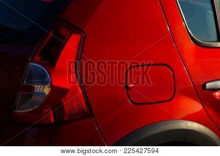 Fragment Of Cars, Rear Lamp, Fuel Filler, Door Handle, Glass