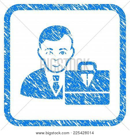 Ton Accounter Rubber Seal Stamp Watermark. Icon Vector Symbol With Grunge Design And Dust Texture In