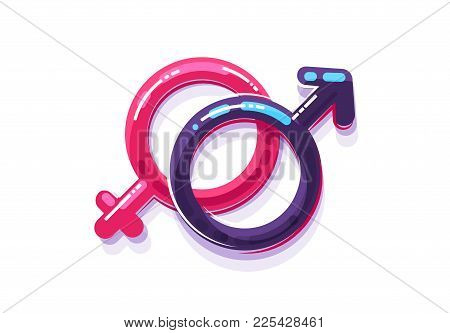 Female And Male Sex Symbol, Gender Men And Women.