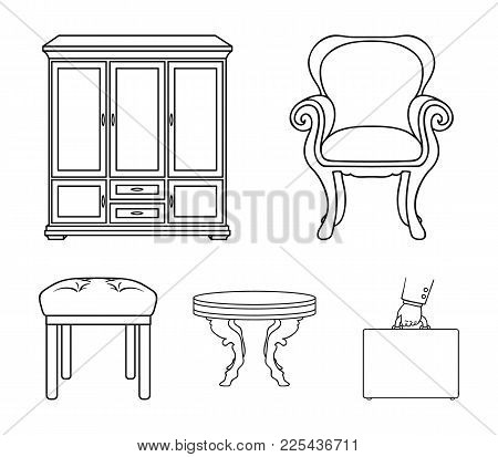Furniture, Interior, Design, Chair .furniture And Home Interiorset Collection Icons In Outline Style