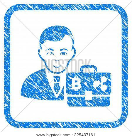 Cryptocurrency Accounter Rubber Seal Stamp Watermark. Icon Vector Symbol With Grunge Design And Dirt