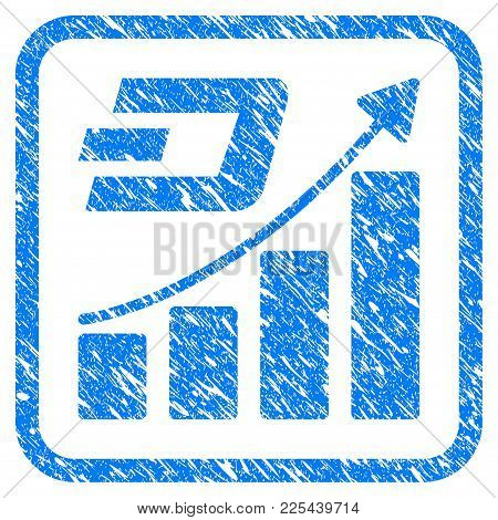 Dash Growth Trend Rubber Seal Stamp Imitation. Icon Vector Symbol With Grunge Design And Corrosion T