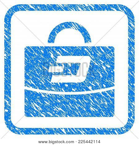 Dash Accounting Case Rubber Seal Stamp Watermark. Icon Vector Symbol With Grunge Design And Dirty Te