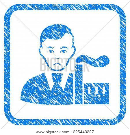 Capitalist Oligarch Rubber Seal Stamp Imitation. Icon Vector Symbol With Grunge Design And Unclean T
