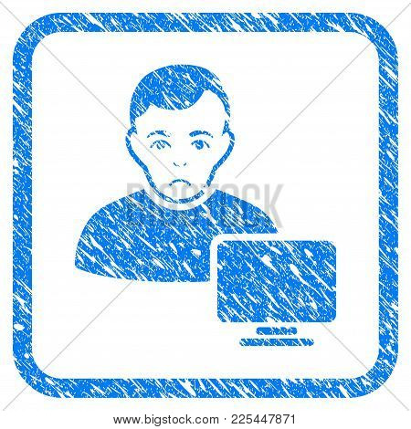 Computer Administrator Rubber Seal Stamp Watermark. Icon Vector Symbol With Grunge Design And Dirty