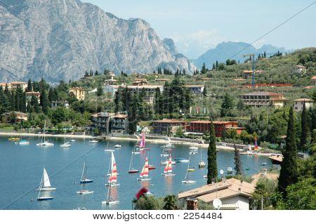 Sailboats On Lakeside