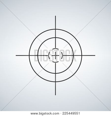 Crosshair, Reticle Viewfinder Target Graphics Vector Illustration